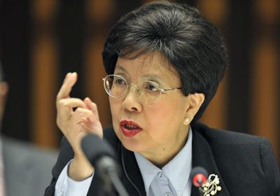 Margaret Chan, First Chinese citizen to head a major United Nations agency, the World Health Organization. In June 2009