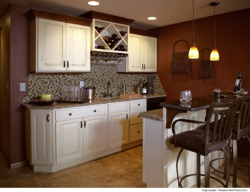 Showplace Cabinets - Wet Bar - traditional - basement - other metros - by Showplace Wood Products
