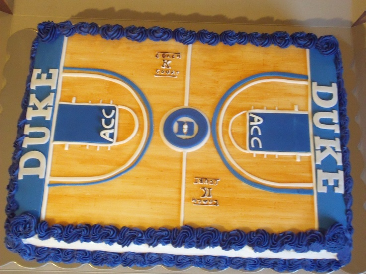 Basketball Court Cake Images : Duke Cake, Cameron Indoor Stadium Stadium Cakes ...