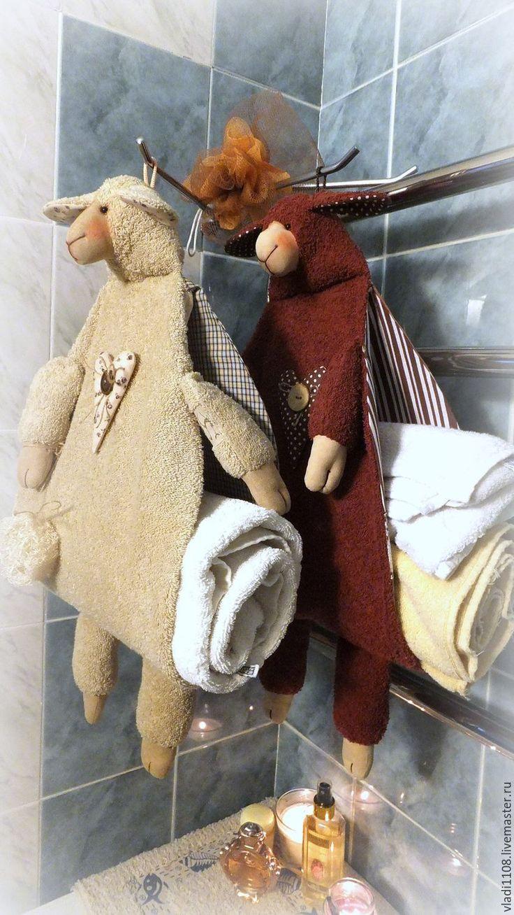 Купить КАКАО & КРЕМ-БРЮЛЕ (хранение полотенец) - хранение полотенец, овца, полотенце, пакетница