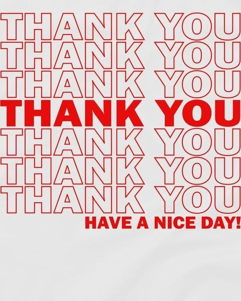 75cac8cc6 Thank You Have A Nice Day Grocery Bag Funny T-Shirt | Typography ...