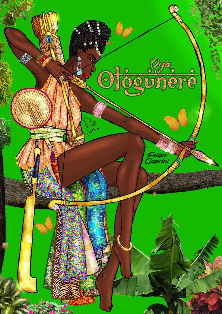 OYÁ OLOGUNERÉ  (Também chamada de Oyá Dê, Indé, Oloküere, Ologüere, Nifa-Orô, etc.)