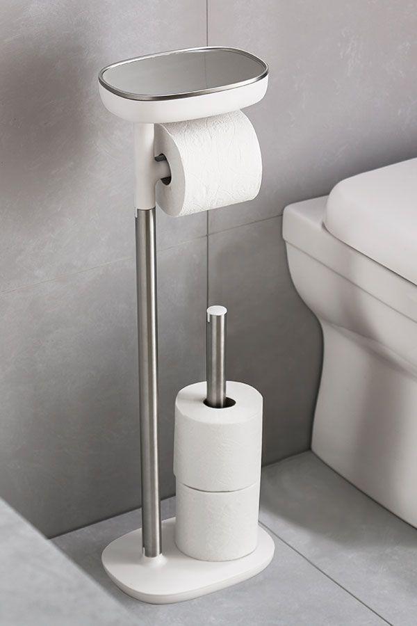 26+ Free standing white toilet paper bathroom cabinet holder best