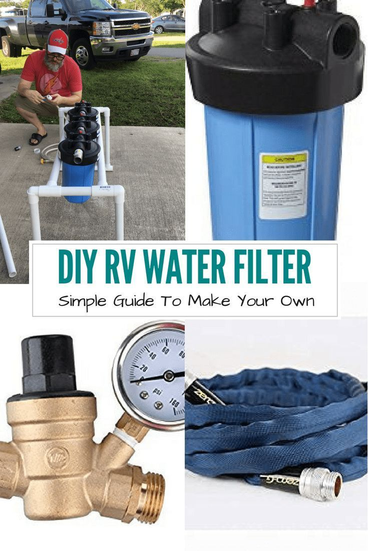 Save Money By Making Your Own Simple Diy Water Filtration System And Stand The Water Filter System Is Perfect For All Camping Rv Water Diy Rv Rv Water Filter