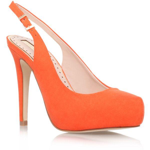 Miss KG Anita Sandals ($59) ❤ liked on Polyvore featuring shoes, sandals, orange, orange sandals, orange shoes, miss kg and miss kg shoes