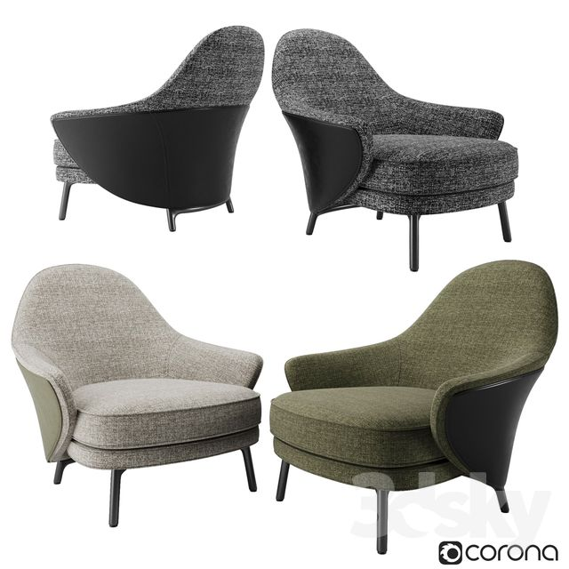 3d Models Arm Chair Minotti Angie Armchair Minotti Armchair Chair