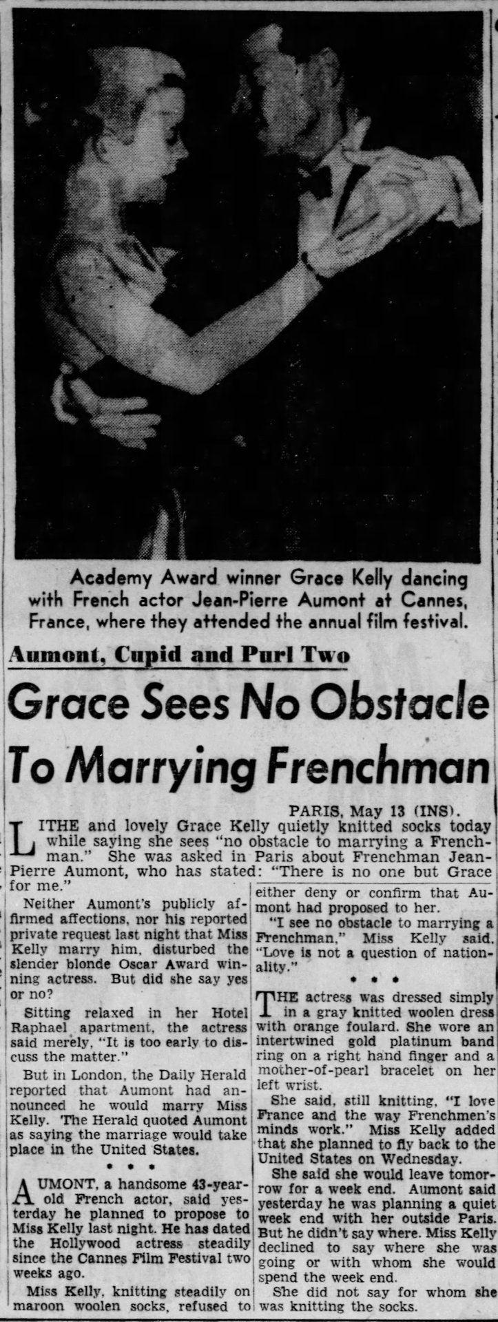 "princessgracekelly1956: "" The Philadelphia Inquirer - May 14 1955 Continua a leggere """