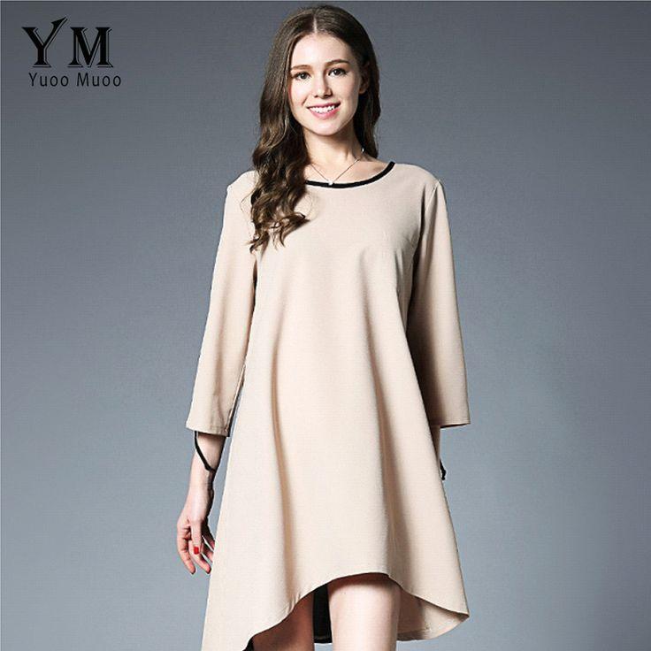 YuooMuoo New Arrival Fashion A-line Women Dress O-neck Plus Size Spring Dress Casual European Design Women Clothing #Affiliate