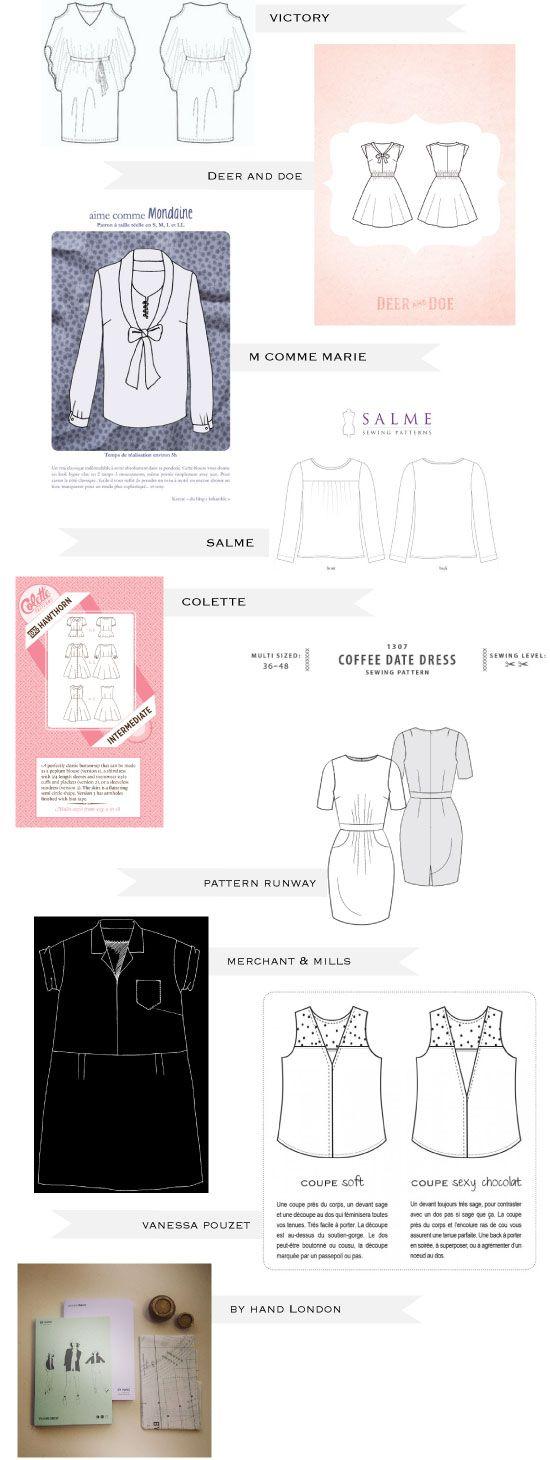 Choisir son patron de couture chez les créateurs indépendants