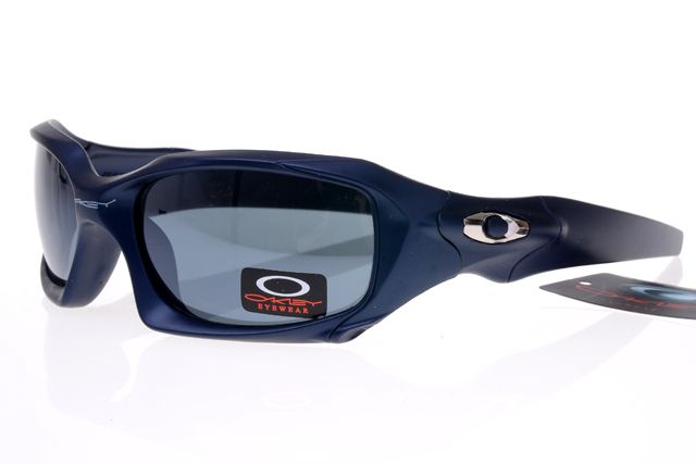 Oakley Gascan Sunglasses Dark Blue Frame Gray Lens 0502