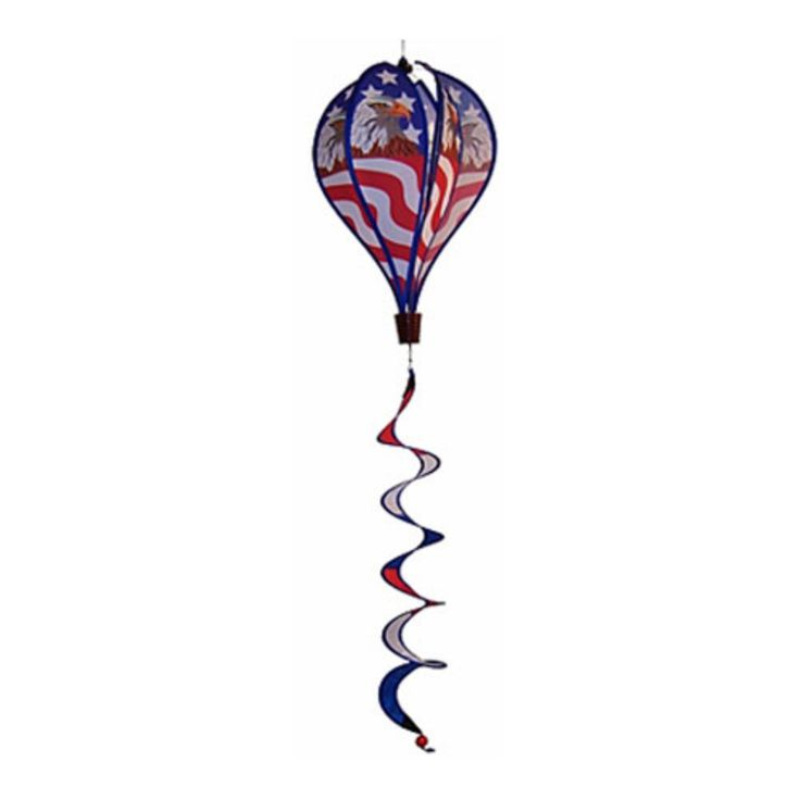 In the Breeze Patriot Eagle Hot Air Balloon Wind Spinner - ITBAV1048