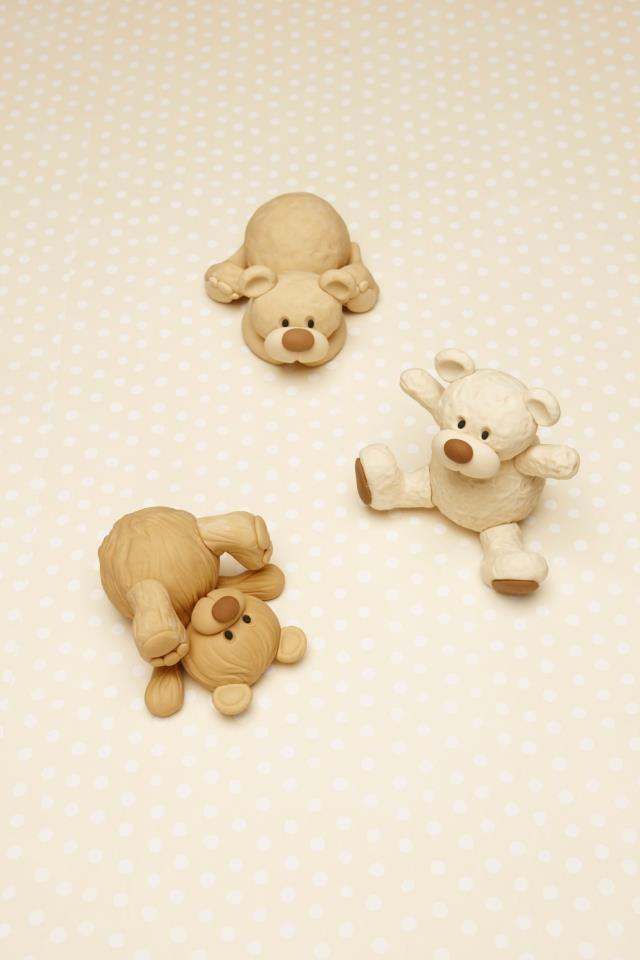Little playful teddy bears