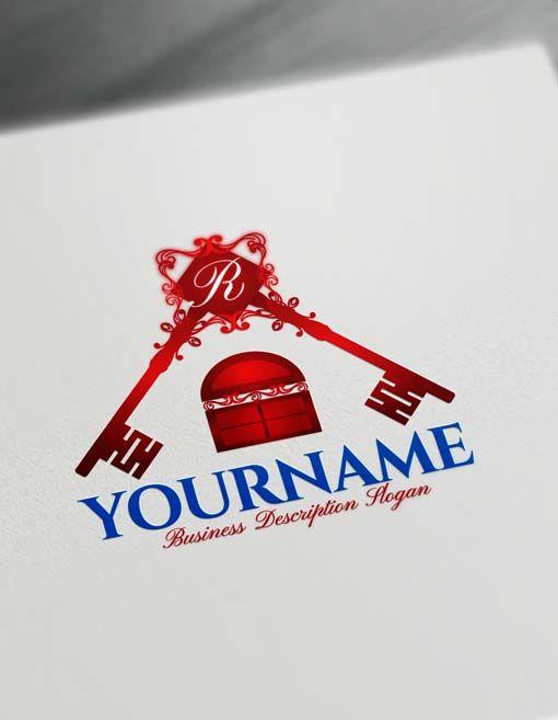 Online Free Logo Creator House Key Logo Maker