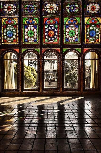 Iran - Colorful Persian Architecture Zinatol Moluk Historic House in Shiraz  (by Erfan Shoara)