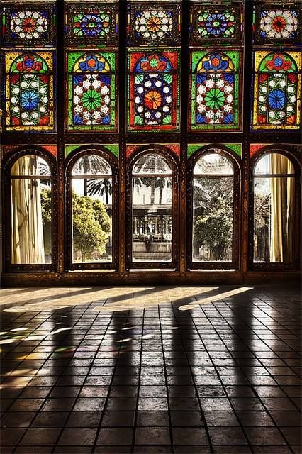 Iran - Colorful Persian Architecture Zinatol Moluk Historic House in Shiraz  (by Erfan Shoara)