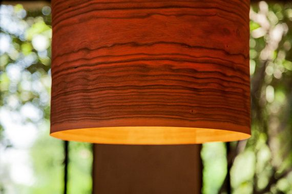 A minimalist drum shade that showcases the natural beauty of each individual unique wood.  Material: Wood, veneer (maple, cherry or walnut), plywood E27