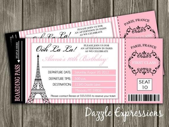 Paris invitaciones