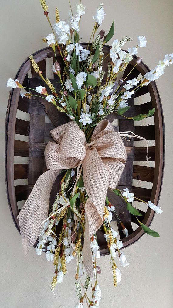 227 Best Floral Baskets Door Amp Wall Pockets Images On Pinterest Basket Flower Arrangements