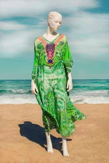 100% Silk Digital print kaftan from Boho Chic Boutique, 1/111 Lawrence Hargrave Drive, Stanwell Park, NSW ph 0242943111
