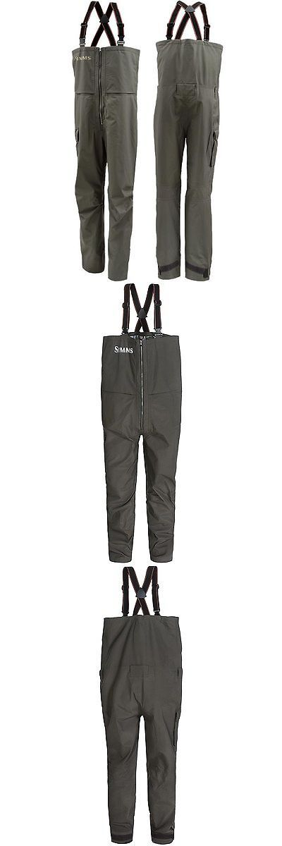 Jacket and Pants Sets 179981: Simms Contender Breathable Gore-Tex 100% Rain Suit Fishing Bibs - Gunmetal Xl BUY IT NOW ONLY: $199.95
