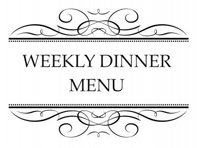 the dinner concierge - she shares her weekly menus, and they look yummy (good photography, too) - a blog to come back to!