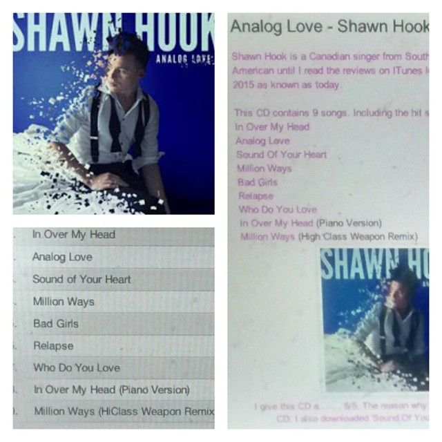 Check out my review on Shaw Hook's CD http://iheartcelebrities519.blogspot.ca/2015/06/analog-love-shawn-hook-cd-review.html