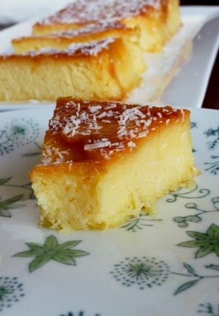 Gâteau crémeux ananas & noix de coco