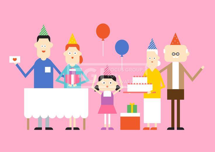SILL211_010SILL211, 가정의달, 가족, 패밀리, 벡터, 에프지아이, 생활, 라이프, 사람, 캐릭터, 단체, 엄마, 아빠, 딸, 할머니, 할아버지, 안경, 노인, 노후, 노후생활, 생일, 축하, 이벤트, 풍선, 케이크, 선물, 서있는, 모자, 일러스트, illust, illustration #유토이미지 #프리진 #utoimage #freegine 19914270