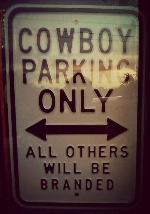 Funny :Cowboy Parking