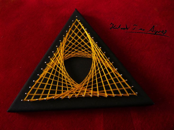 String art triangle Fonal művészet - Háromszög