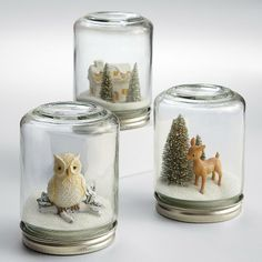 homemade snow globes - Google Search                                                                                                                                                                                 More