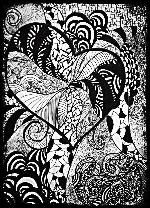 zentangle, linework, dotwork, sketch, my work