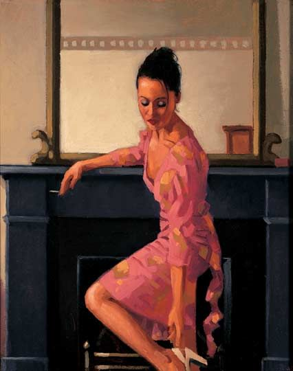 Model in Westwood - Jack Vettriano