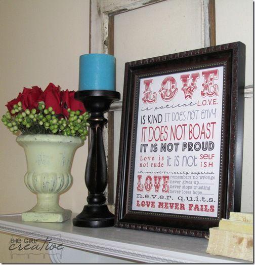 Love is patient.Valentine Crafts, Valentine'S Day, Subway Art, 1 Corinthians, Freeprintables, Corinthians 13, Valentine Ideas, Valentine Decor, Free Printables