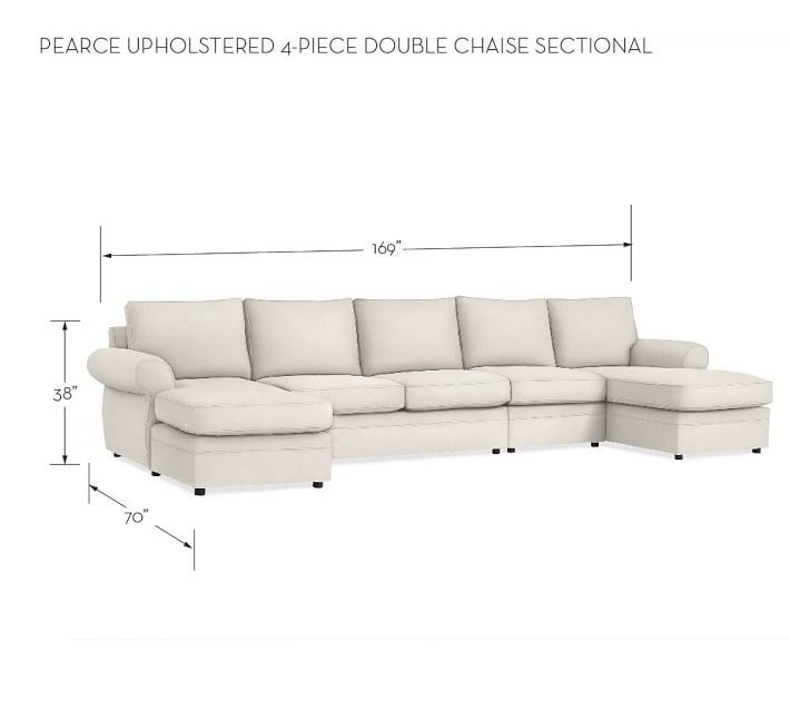upholstered piece double chaise sectional with sleeper lounge sofa