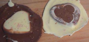 Een bijzonder Valentijns recept met leftover chocolade: Valentijns harten!