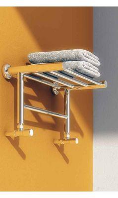 Reina Troisi Polished Steel Designer Heated Towel Rail Rack Radiator - 294 X 532mm