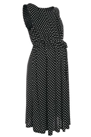 Buy Black And White Spot Dress (Maternity) from the Next UK online shop
