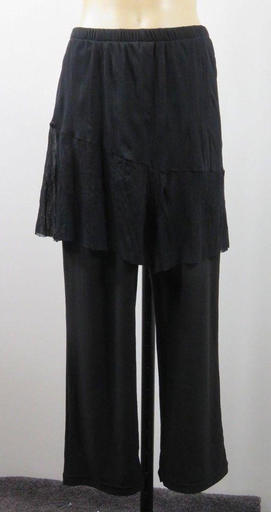 Size S 10 FLOWER Ladies Black Skants Pants Office Chic Cocktail Evening Design #Flower #DressPants #WeartoWork