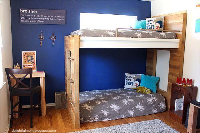 Inspiring DIY Bunk Beds from @DFahrenkrug. Aren't these fun? /ES
