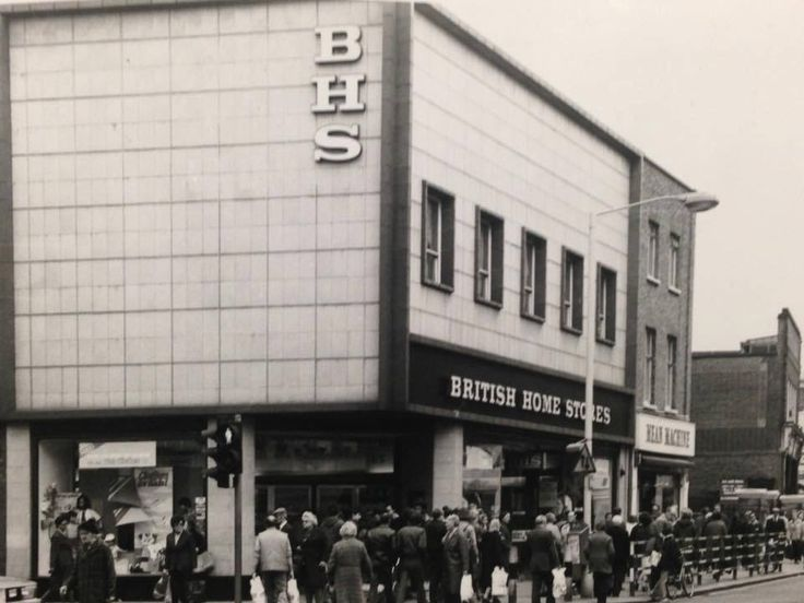 An Old Photo of British Home Stores Shop in Rye Lane Peckham South East London England