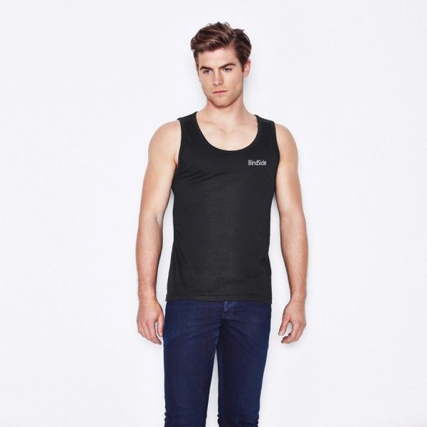 Shop for quality Men's Euro Style Tank it is available in white or black featuring a universal style that will look good on anyone. You can shop for 25 pieces at low cost of $9.54. #MensEuroStyleTank #promotionalgiveaways #promotionalclothing #promotionalapparel #universalstyle