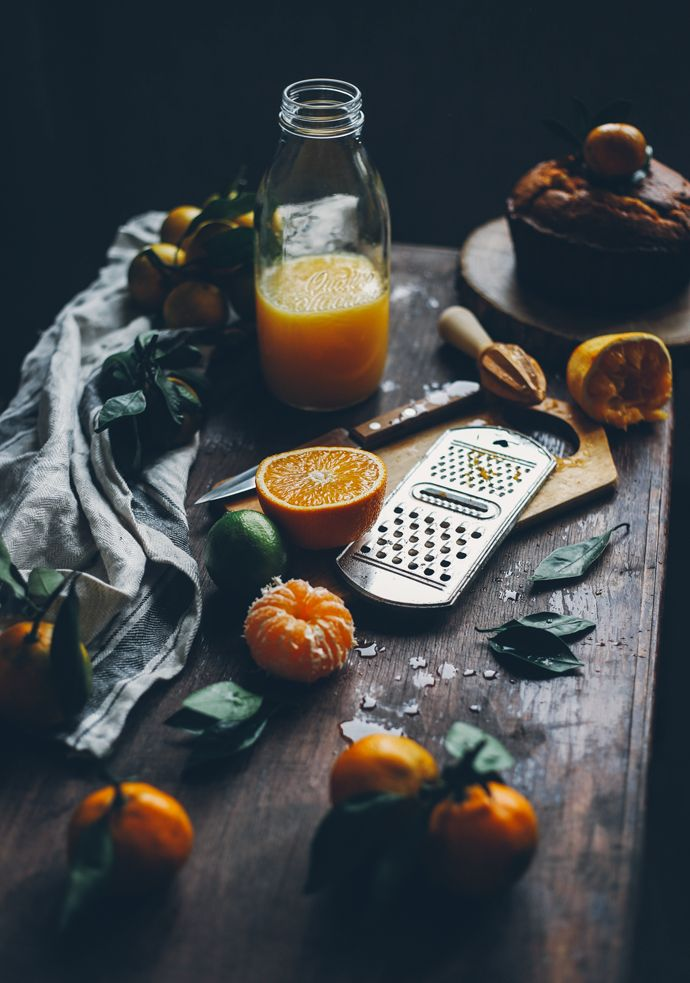 """Food Photography & Styling Inspiration   Citrus cake with """"Cointreau"""" liqueur & lemon recipe"""
