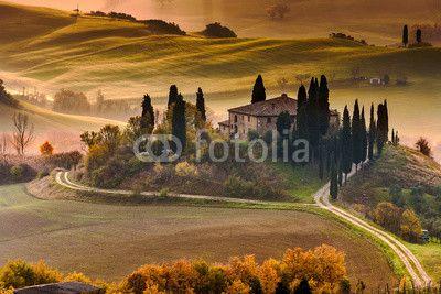 Zdjęcia na płótnie, fototapety na wymiar, obrazy na ścianę : Tuscany Farmhouse…