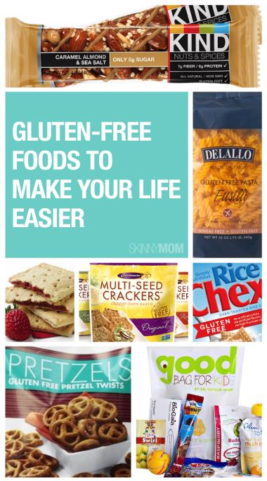 Prepackaged gluten-free products for you and your family!