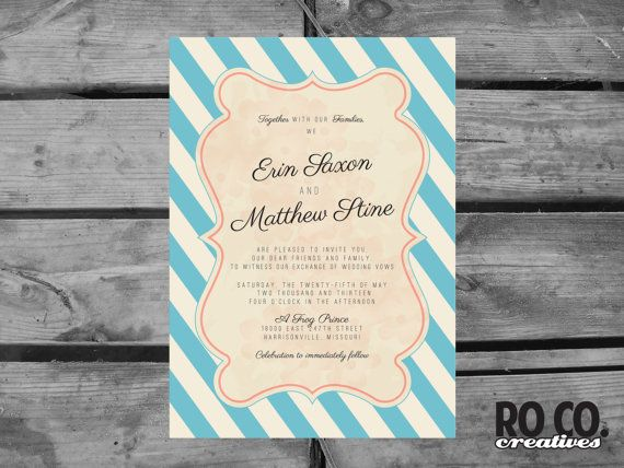 Striped Wedding Invitations: 1000+ Ideas About Striped Wedding On Pinterest