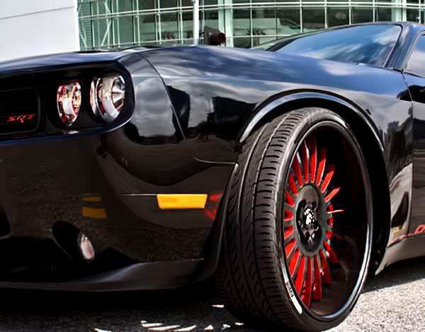 CUSTOM DODGE CHALLENGER SRT ON FORGIATO'S . . 26 inch, BIG RIMS, Big Wheel Cars, Big Wheel Sizes, Dodge. See more cars and trucks pictures at BigRims.us website.