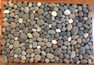 10 best images about river rock diy on pinterest for River stone doormat