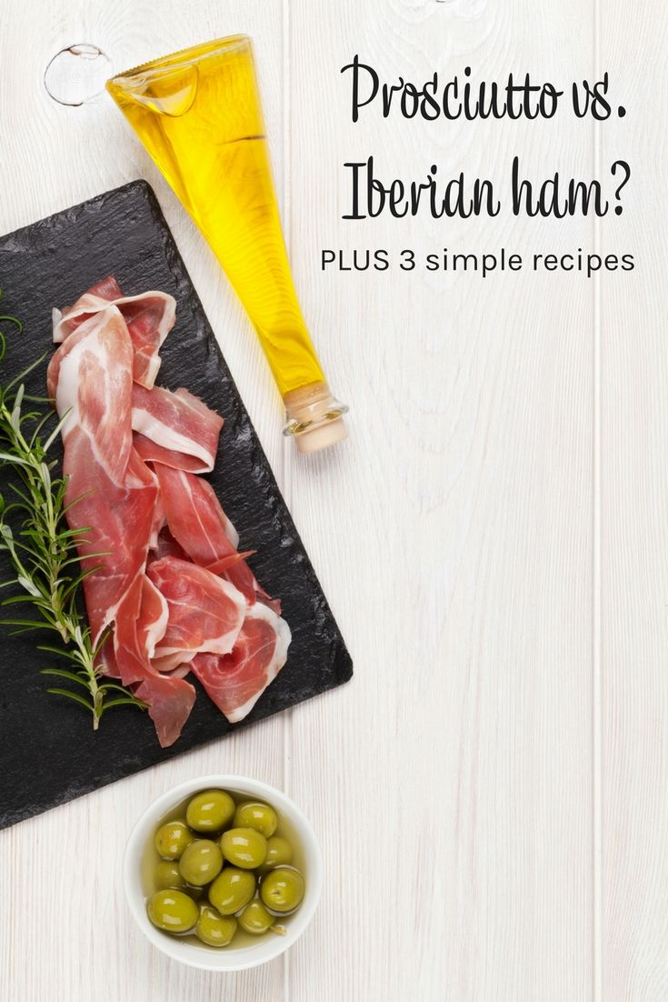 Food travel: Prosciutto vs. Iberian ham plus 3 simple recipes. Prosciutto recipes. Prosciutto wrapped asparagus. Prosciutto wrapped shrimp. Prosciutto apetizers.