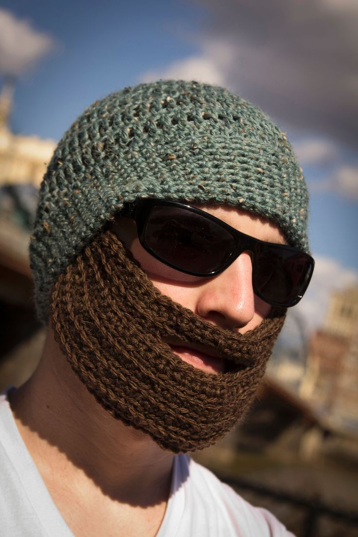 Knitting Patterns By Needle Size : Crochet Bearded Hat - Knitting Patterns and Crochet Patterns from KnitPicks.c...
